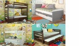 деревяні  дитячі ліжка